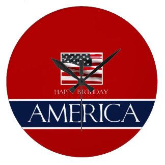 Grattis på födelsedagen Amerika! Stor Klocka