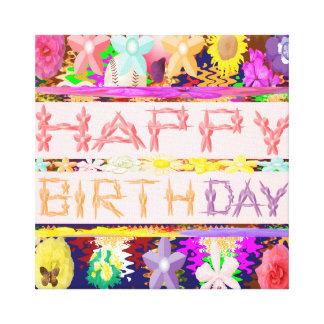 Grattis på födelsedagen canvastryck