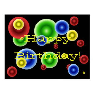 Grattis på födelsedagen cirklar vykort