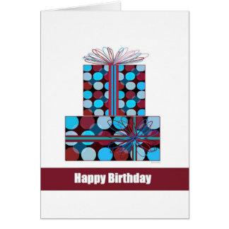 Grattis på födelsedagen (contemporary) hälsningskort