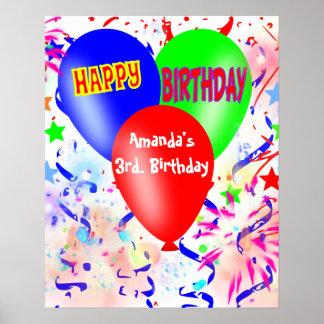 grattis på födelsedagen födelsedagsfestaffisch, re