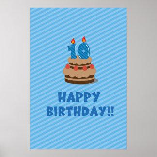 Grattis på födelsedagen!! (för 10 gammala år) poster