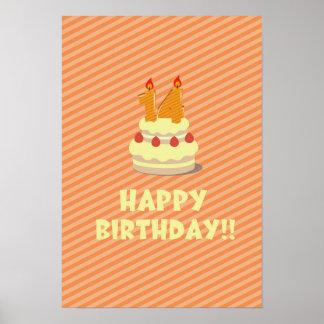 Grattis på födelsedagen!! (för 14 gammala år) poster