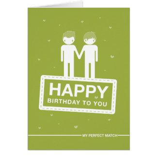 Grattis på födelsedagen för match | för grönt | hälsningskort