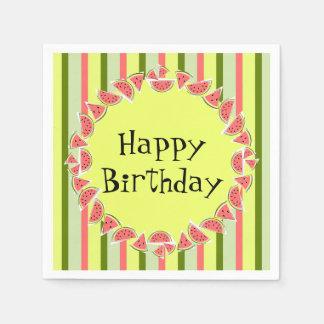 Grattis på födelsedagen för papper servett