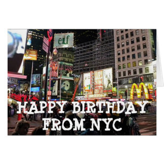 Grattis på födelsedagen från humoristiskt kort för