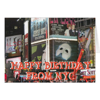 Grattis på födelsedagen från NYC Fröcken som du Hälsningskort