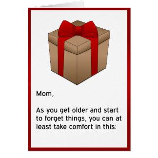 Grattis på födelsedagen - glömsk mamma hälsningskort