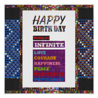 Grattis på födelsedagen HappyBirthday som är Poster