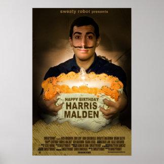 """Grattis på födelsedagen Harris Malden"" affisch Poster"