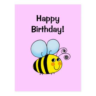 Grattis på födelsedagen! (humla) vykort