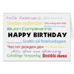Grattis på födelsedagen i kort för många språk