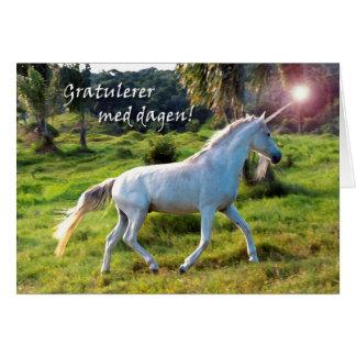 Grattis på födelsedagen i norrmannen, Magical Hälsningskort