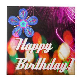 Grattis på födelsedagen kakelplatta