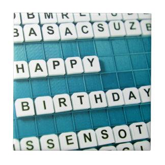 Grattis på födelsedagen! kakelplatta