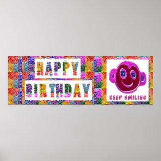 Grattis på födelsedagen:  Le för BEHÅLLA Posters