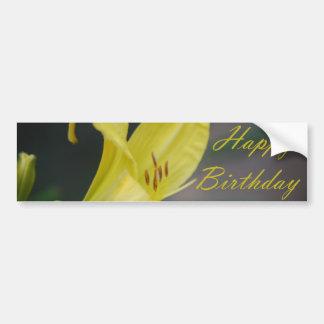 Grattis på födelsedagen - lilja bildekal