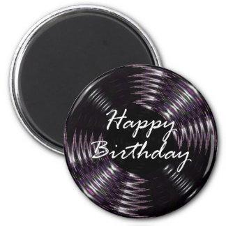 Grattis på födelsedagen magnet rund 5.7 cm