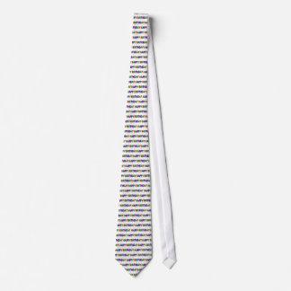 Grattis på födelsedagen med partybanderoller slips