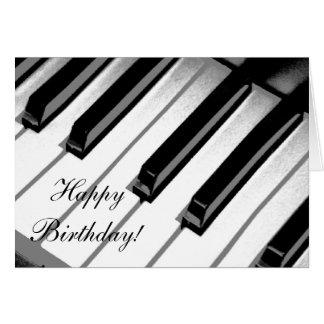 Grattis på födelsedagen! Pianomusikkort Hälsningskort