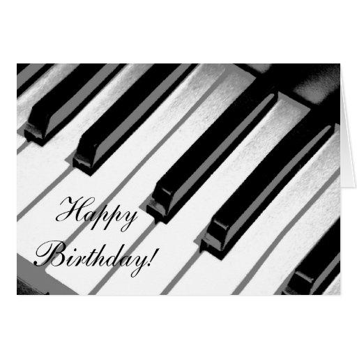 Grattis på födelsedagen! Pianomusikkort Kort