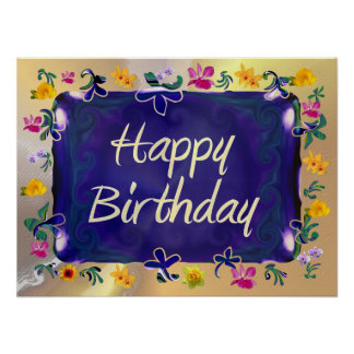 Grattis på födelsedagen poster