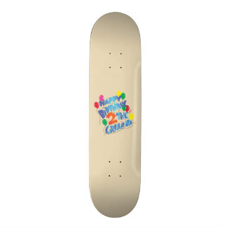 Grattis på födelsedagen skateboard bräda 20,5 cm