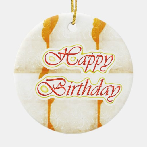 Grattis på födelsedagen skrivar: Ren kristall för  Julgranskulor