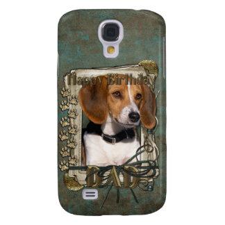 Grattis på födelsedagen - sten tafsar - Beagle - Galaxy S4 Fodral