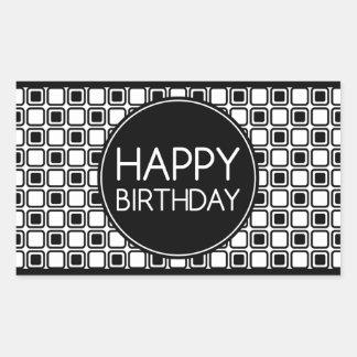 grattis på födelsedagen (studioSquares) Rektangulärt Klistermärke