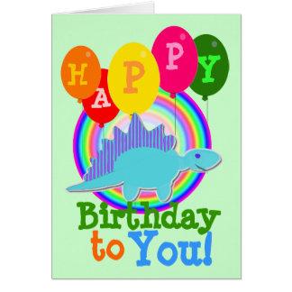 Grattis på födelsedagen till dig blåtttecknadDinos