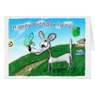 Grattis på födelsedagen till dig! hälsningskort
