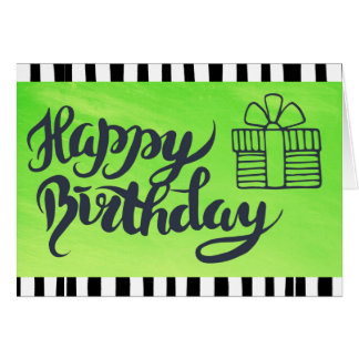 Grattis på födelsedagen till dig limefruktgrönt & hälsningskort