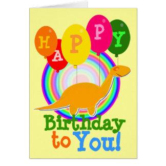 Grattis på födelsedagen till dig orange tecknadDin Hälsningskort