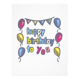 Grattis på födelsedagen till dig reklamblad