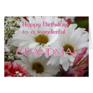 Grattis på födelsedagen till en underbar mormor! - hälsningskort
