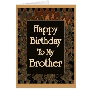 Grattis på födelsedagen till min broder hälsningskort