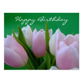 Grattis på födelsedagen - tulpanvykort vykort