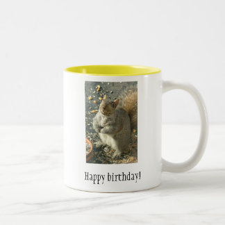 Grattis på födelsedagen! Två-Tonad mugg