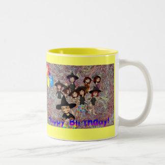 Grattis på födelsedagen Två-Tonad mugg