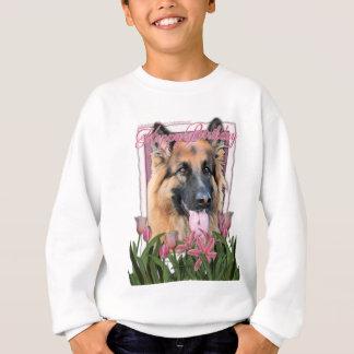 Grattis på födelsedagen - tysk herde - långt t-shirt