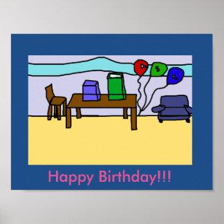 Grattis på födelsedagenaffisch poster
