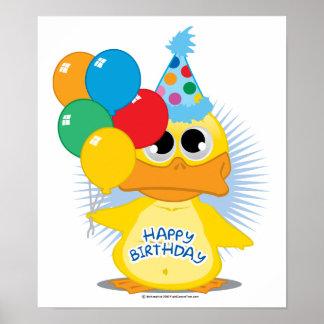 Grattis på födelsedagenanka poster