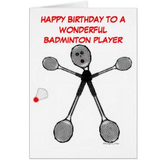 Grattis på födelsedagenBadmintonspelare Hälsningskort