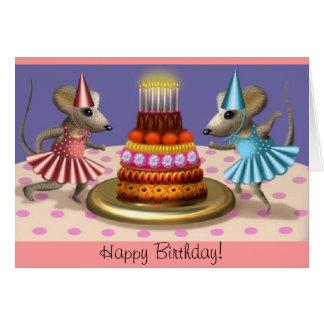 Grattis på födelsedagenballerinas kort
