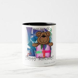 Grattis på födelsedagenbjörn Två-Tonad mugg