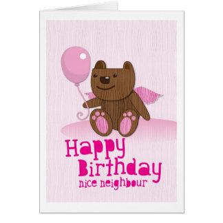 Grattis på födelsedagenbjörnNice grann Hälsningskort