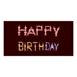 Grattis på födelsedagenblommigten skrivar poster