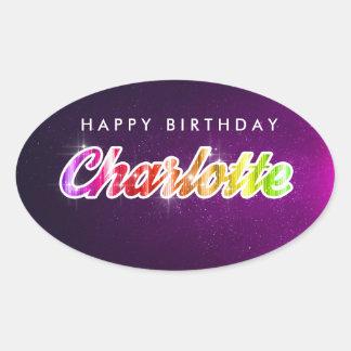 Grattis på födelsedagenCharlotte klistermärke