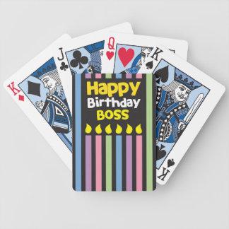 Grattis på födelsedagenCHEF! Spelkort